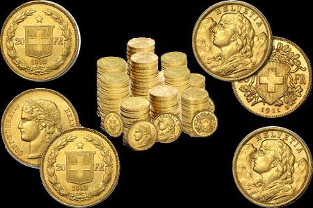 Swiss 20 Franc Gold Coins